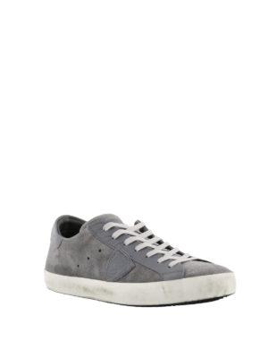 PHILIPPE MODEL: sneakers online - Sneaker Paris basse in camoscio grigio