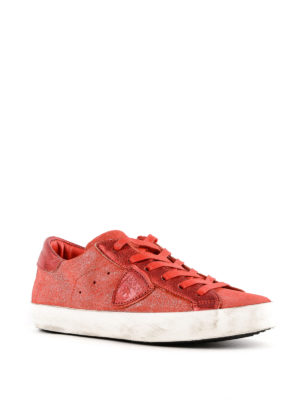 PHILIPPE MODEL: sneakers online - Sneaker Paris in suede spalmato rosso
