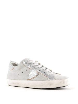 PHILIPPE MODEL: sneakers online - Sneaker Paris in suede e pelle metallizzata