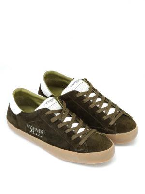 PHILIPPE MODEL: sneakers online - Sneaker in morbido suede verde Paris Vintage