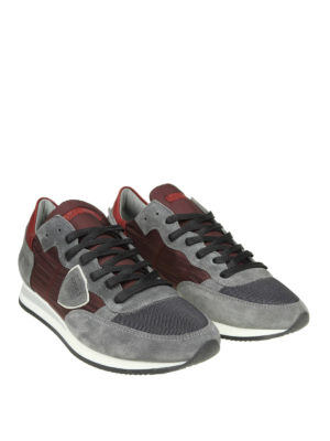 PHILIPPE MODEL: sneakers online - Sneaker Tropez in nylon e camoscio bicolor