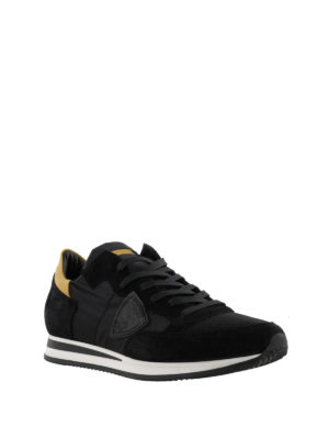 PHILIPPE MODEL: sneakers online - Sneaker Tropez in nylon e suede nero