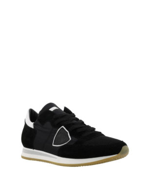 PHILIPPE MODEL: sneakers online - Sneaker Tropez in suede e nylon nero