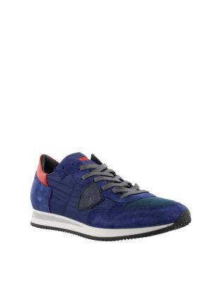 PHILIPPE MODEL: sneakers online - Sneaker Tropez in nylon e suede blu e rosso