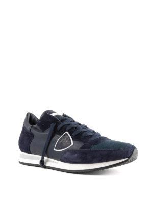 PHILIPPE MODEL: sneakers online - Sneaker Tropez blu in pelle e suede