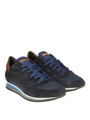 PHILIPPE MODEL: sneakers online - Sneaker Tropez in camoscio e pelle blu