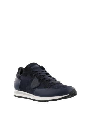 PHILIPPE MODEL: sneakers online - Sneaker Tropez camouflage blu multi tessuto