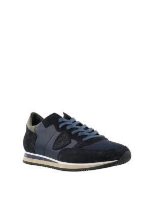 PHILIPPE MODEL: sneakers online - Sneaker Tropez blu scuro con talloncino verde