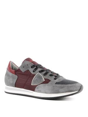 PHILIPPE MODEL: sneakers online - Sneaker Tropez grigie e bordeaux