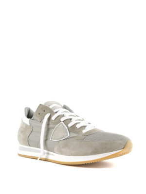 PHILIPPE MODEL: sneakers online - Sneaker grigie Tropez in suede e nylon