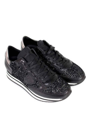 PHILIPPE MODEL: sneakers online - Sneaker multi tessuto Tropez Higher nere