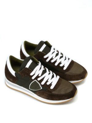 PHILIPPE MODEL: sneakers online - Sneaker Tropez suede e nylon verde militare