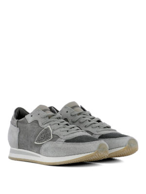 PHILIPPE MODEL: sneakers online - Sneaker grigie Tropez Run in suede