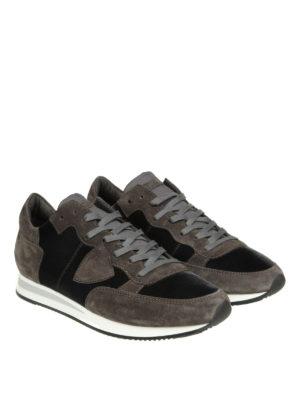 PHILIPPE MODEL: sneakers online - Sneaker Tropez in camoscio e velluto