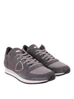 PHILIPPE MODEL: sneakers online - Sneaker Tropez color grigio tinta unita