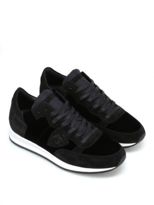 PHILIPPE MODEL: sneakers online - Sneaker Tropez color velour noir