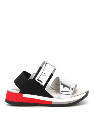 Philippe Model: sandals - Anemone metallic leather sandals