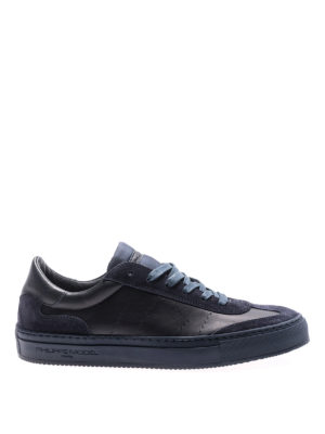 Philippe Model: trainers - Belleville blue low top sneakers