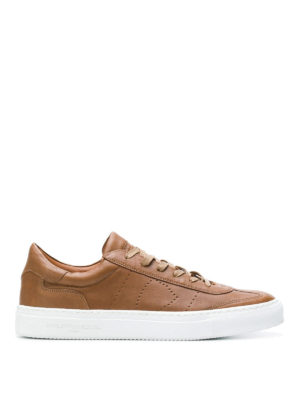 PHILIPPE MODEL: sneakers - Sneaker Belleville in morbida pelle marrone