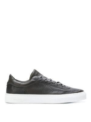 PHILIPPE MODEL: sneakers - Sneaker Belleville in morbida pelle antracite