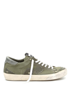 Philippe Model: trainers - Bercy army canvas sneakers