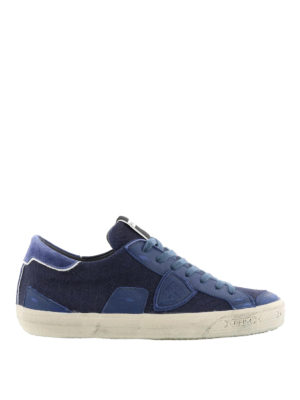 Philippe Model: trainers - Bercy blue canvas sneakers