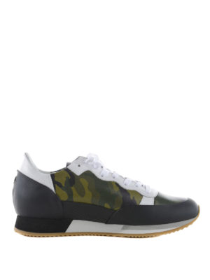Philippe Model: trainers - Bright camouflage printed sneakers