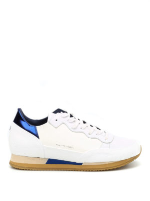 Philippe Model: trainers - Bright two-tone leather sneakers