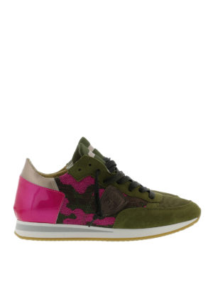 Philippe Model: trainers - Camouflage printed Tropez sneakers