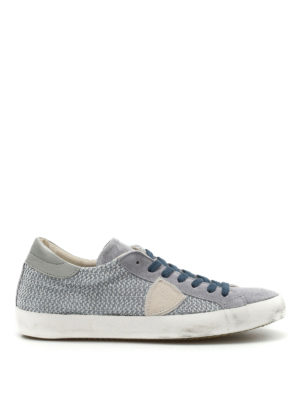 Philippe Model: trainers - Classic drilled suede sneakers