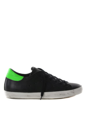 Philippe Model: trainers - Classic fluo back sneakers
