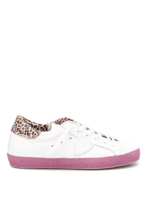 Philippe Model: trainers - Classic Glitter leather sneakers