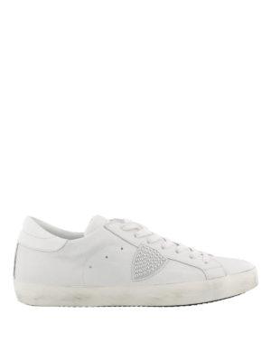 PHILIPPE MODEL: sneakers - Sneaker in pelle Classic Low con logo borchie
