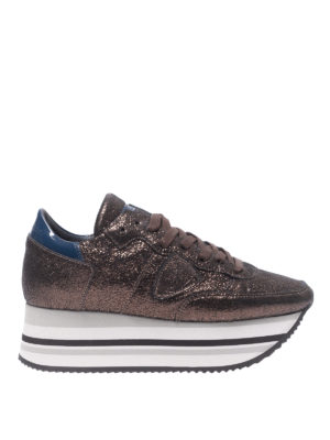 PHILIPPE MODEL: sneakers - Sneaker Eiffel effetto craquelé
