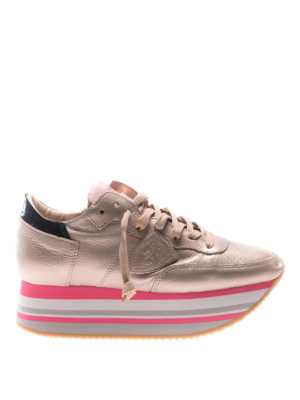 Philippe Model: trainers - Eiffel platform champagne sneakers