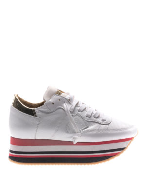 Philippe Model: trainers - Eiffel platform white sneakers