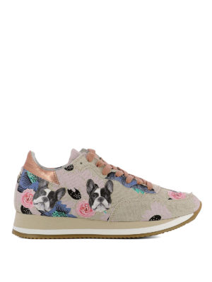 Philippe Model: trainers - Etoile Bulldog metal rose sneakers