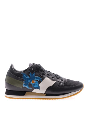 Philippe Model: trainers - Etoile Iris black low top sneakers