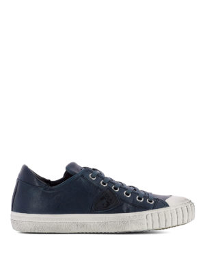 Philippe Model: trainers - Gare blue leather sneakers