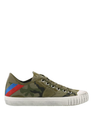 PHILIPPE MODEL: sneakers - Sneaker Gare in canvas camouflage