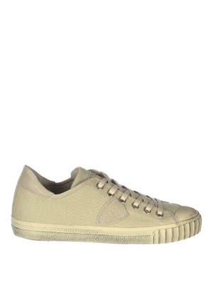 Philippe Model: trainers - Gare canvas low top sneakers