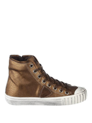 Philippe Model: trainers - Gare coated cotton sneakers