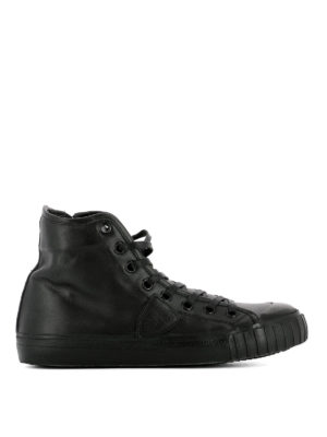 Philippe Model: trainers - Gare high-top leather sneakers