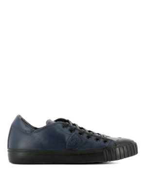 Philippe Model: trainers - Gare leather low top sneakers