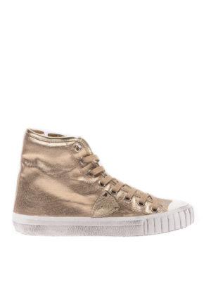 PHILIPPE MODEL: sneakers - Sneaker Gare in pelle laminata