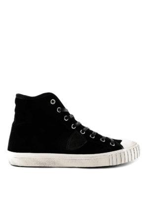 PHILIPPE MODEL: sneakers - Sneaker Gare in velluto