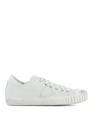 Philippe Model: trainers - Gare white leather sneakers