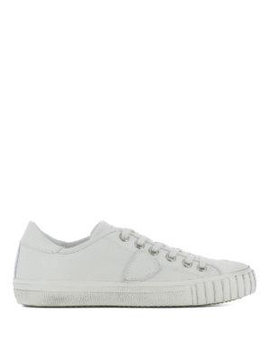 PHILIPPE MODEL: sneakers - Sneaker Gare in pelle bianca