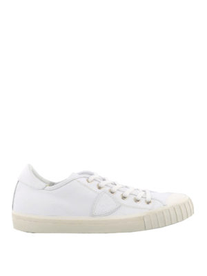 Philippe Model: trainers - Gare white low top sneakers