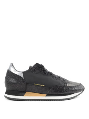 Philippe Model: trainers - Glitter leather sneakers